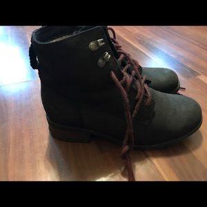 UGG Black Denhali Leather Boot